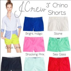 "J. Crew Chino 3"" City Fit Stone Color Shorts Sz 4"